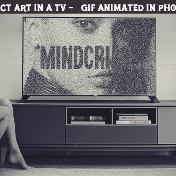 Create Animated gif of an Abstract Video in a TV Set in Photoshop