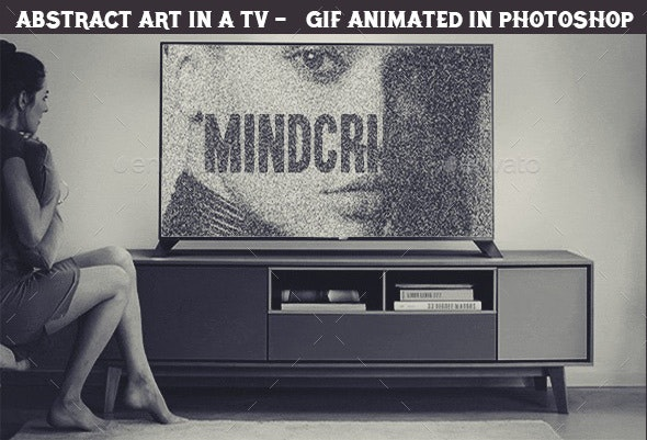 Create Animated gif of an Abstract Video in a TV Set in Photoshop  - Miscellaneous Graphics