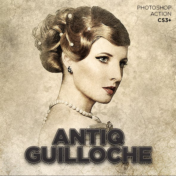 Antiq Guilloche Photoshop Action CS3+