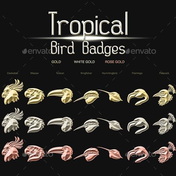 Tropical Birds Badges