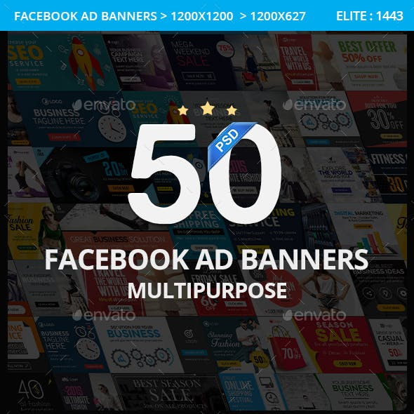 Multipurpose Facebook Ad Banners - 50 Designs