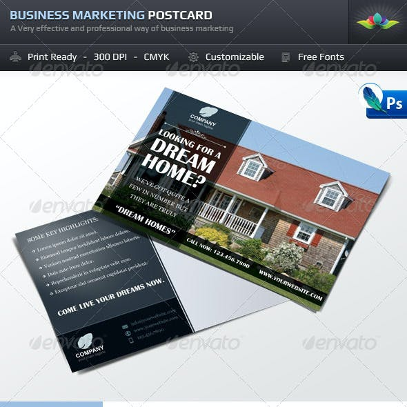 Business Marketing Postcard Template Set