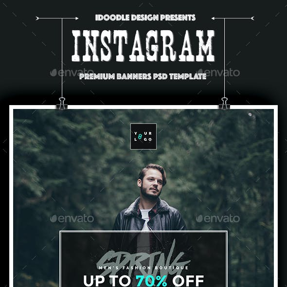 Fashion Instagram Banners Ad - 10 PSD [New Size]