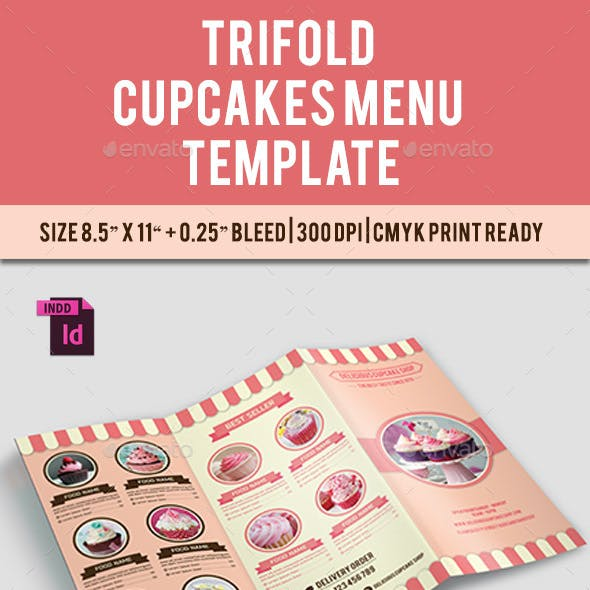 TriFold Cupcakes Menu Vol. 2