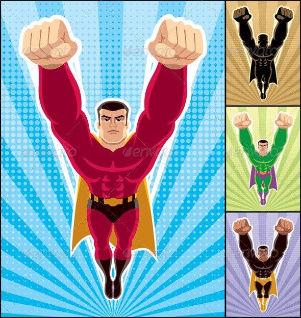 Superhero Flying - People Characters
