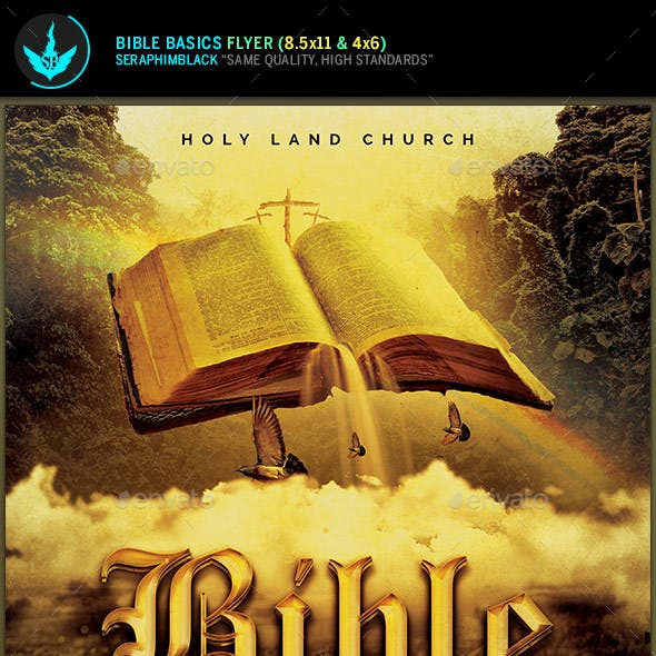 Bible Basics Church Flyer Template