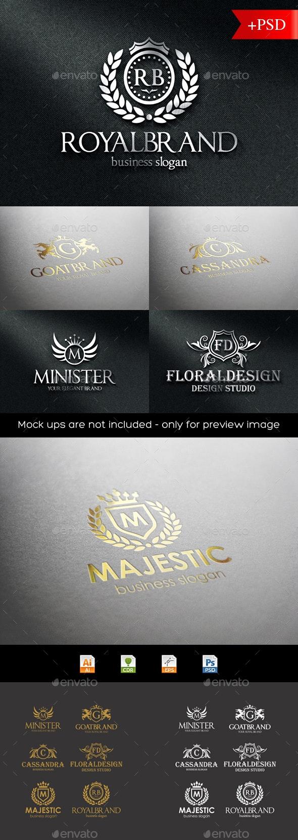 Heraldic Crest Logo Badges - Badges & Stickers Web Elements