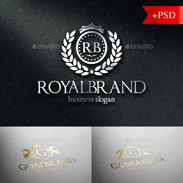 Heraldic Crest Logo Badges