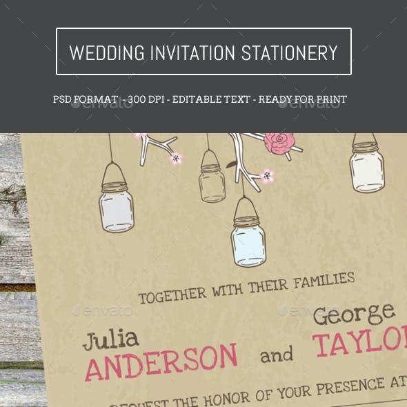 Wedding Invitation Set Stationery