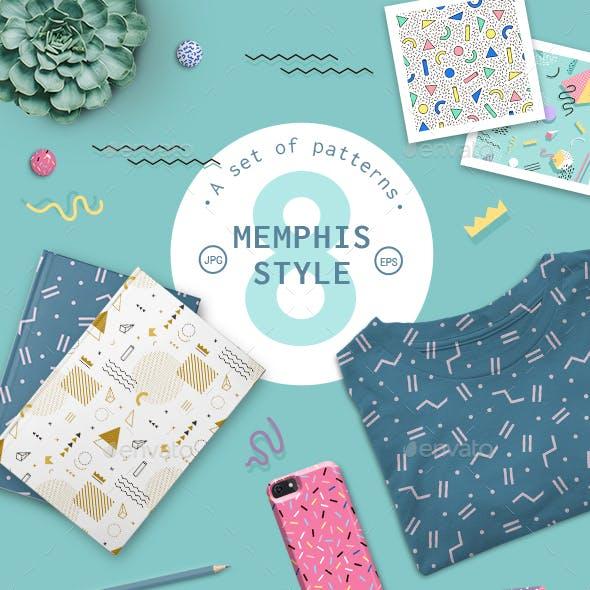 Geometric Pattern Memphis Style