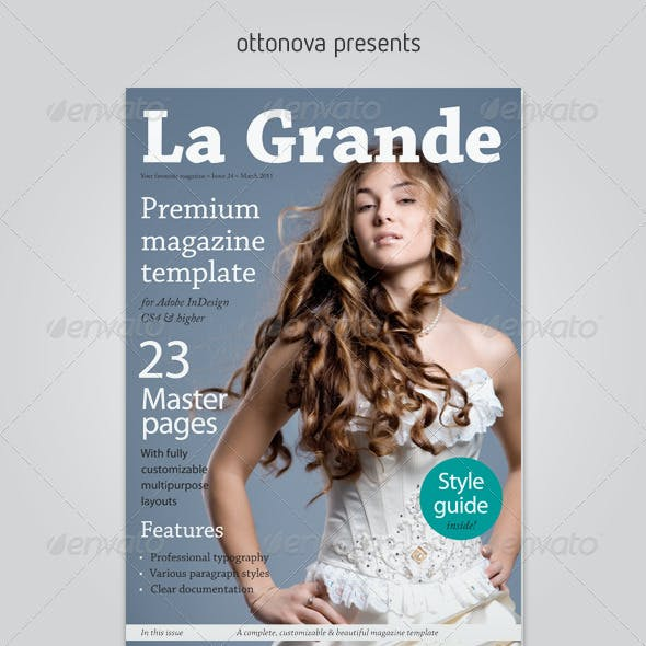 La Grande InDesign magazine template