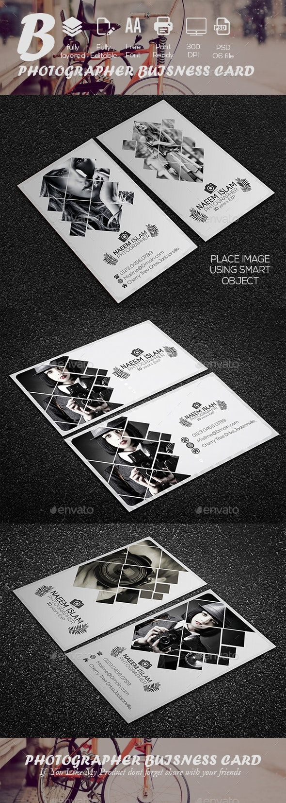 Photographer Buisness Card - Industry Specific Business Cards