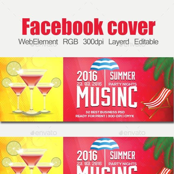 Summer Beach Fun Facebook Timeline