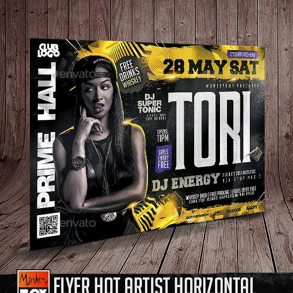 Flyer Hot Artist Horizontal