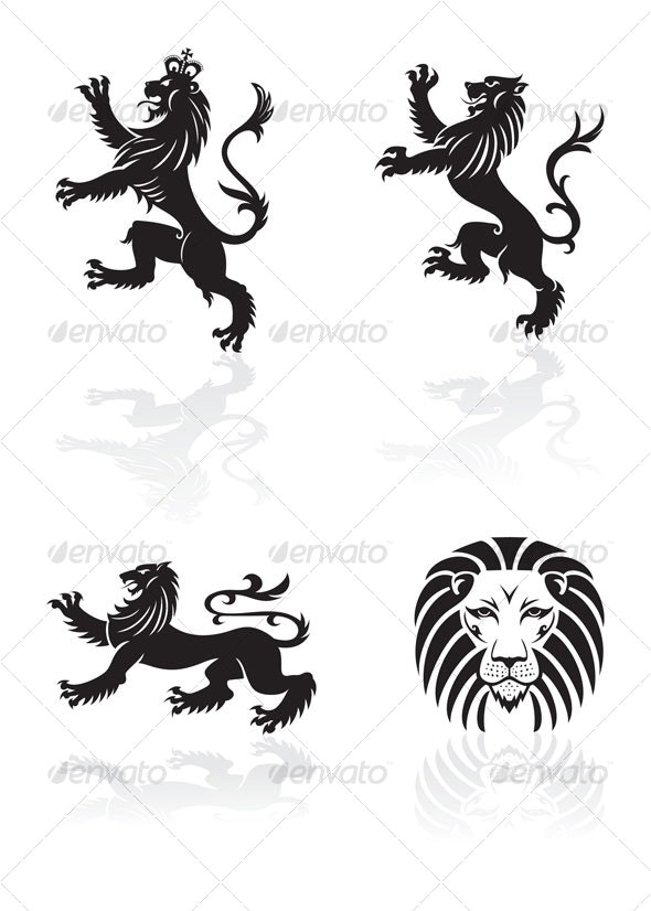 lions design - Animals Characters