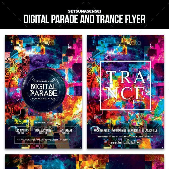 Digital Parade and Trance Flyer
