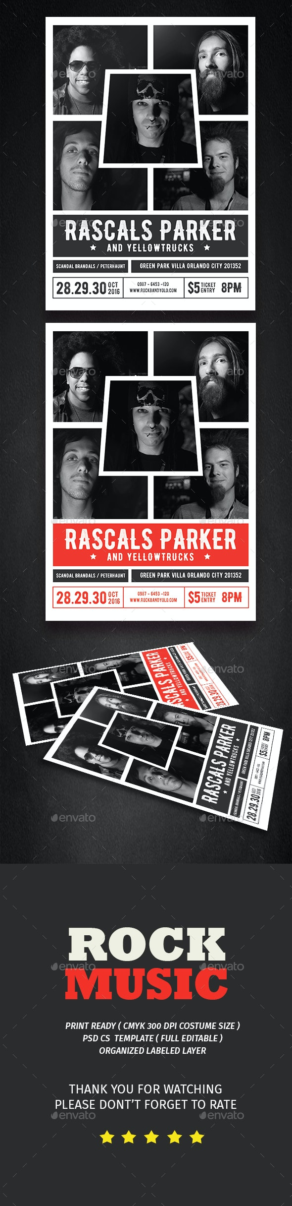 Rock Music - Events Flyers