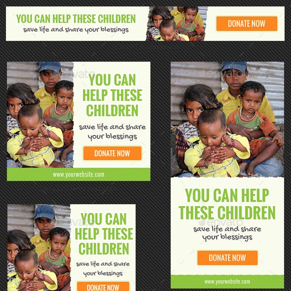 Donation Banner Ad Templates Lite