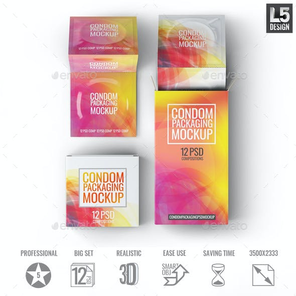 Condoms Packaging Mock-Up
