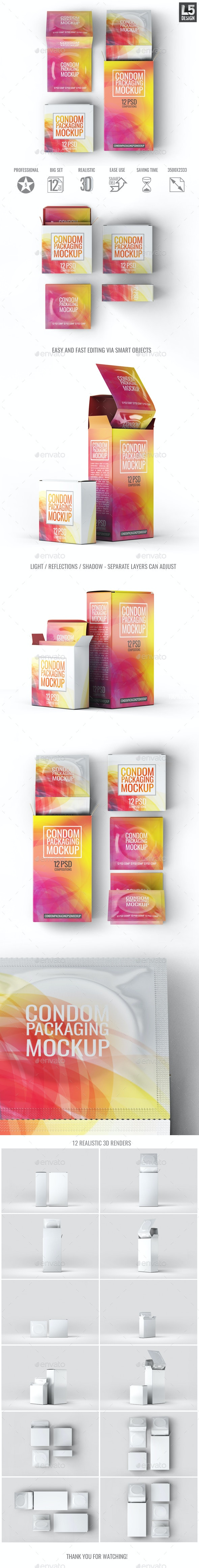 Condoms Packaging Mock-Up - Miscellaneous Packaging