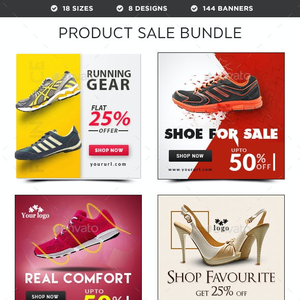 Product Sale Banners Bundle - 8 Sets - 144 Banners