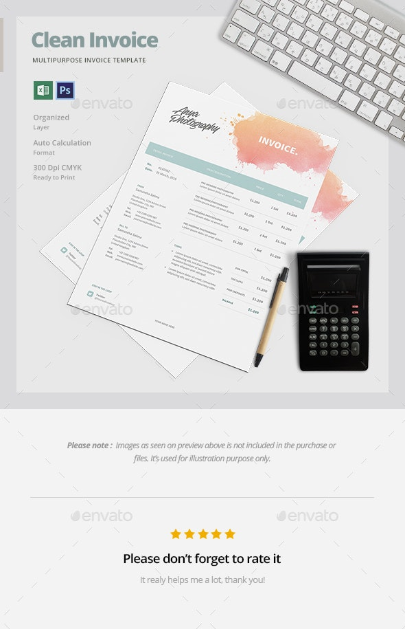 Creative Invoice Template - Proposals & Invoices Stationery