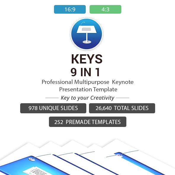 Keys 9 in 1 Keynote Template Bundle