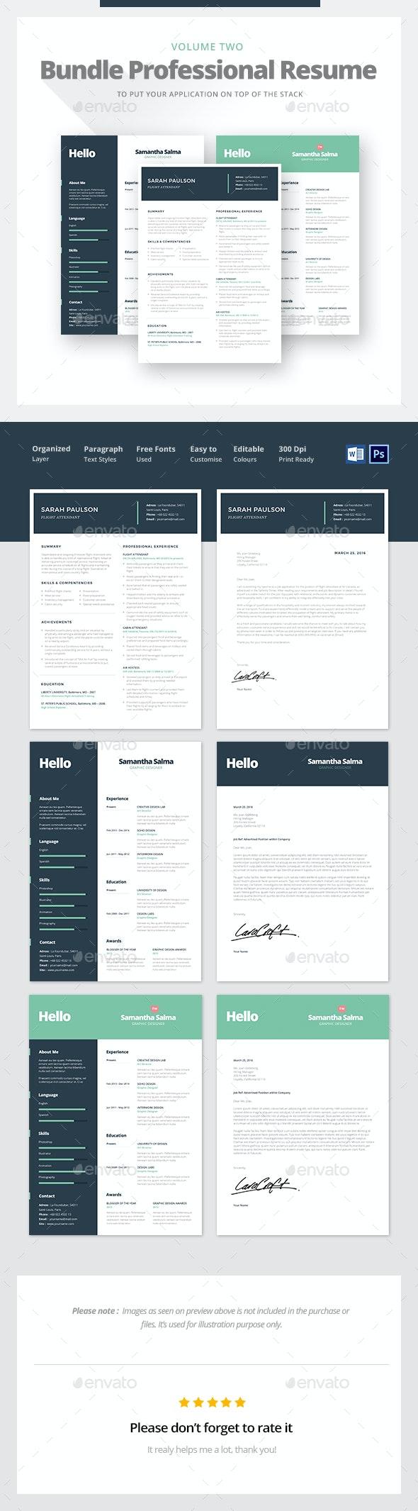 Professional Resume Bundle  - Resumes Stationery
