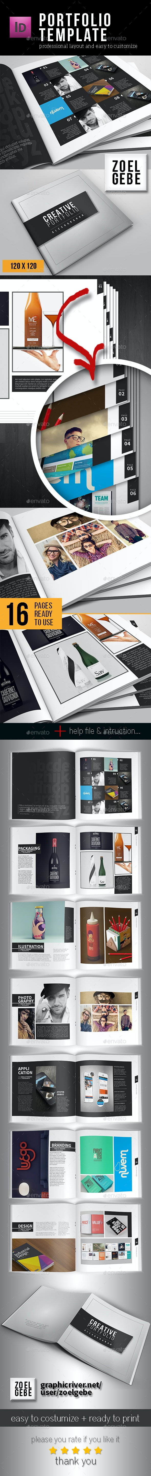 Portfolio Template - Square - Brochures Print Templates