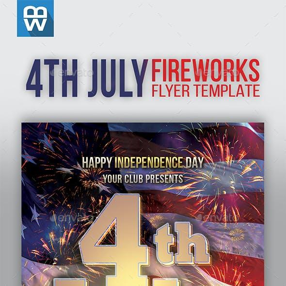 4th July Fireworks Flyer