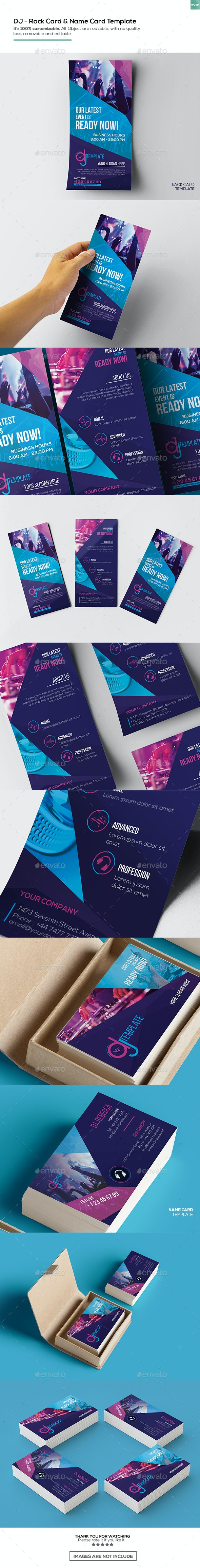 DJ / Rack Card and Business Card Template - Miscellaneous Print Templates
