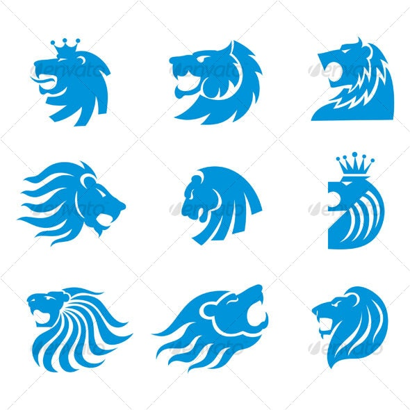 lion head designs - Animals Characters