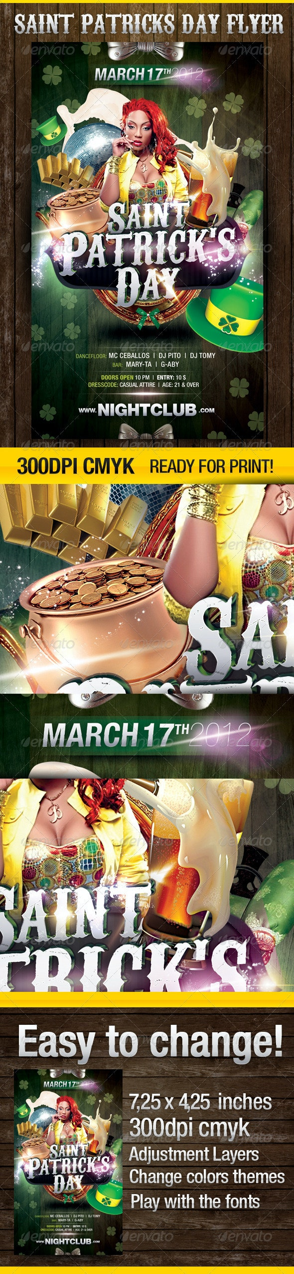 St.Patrick´s Day Party Flyer - Clubs & Parties Events
