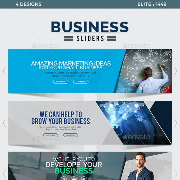 Business Sliders - 4 Designs