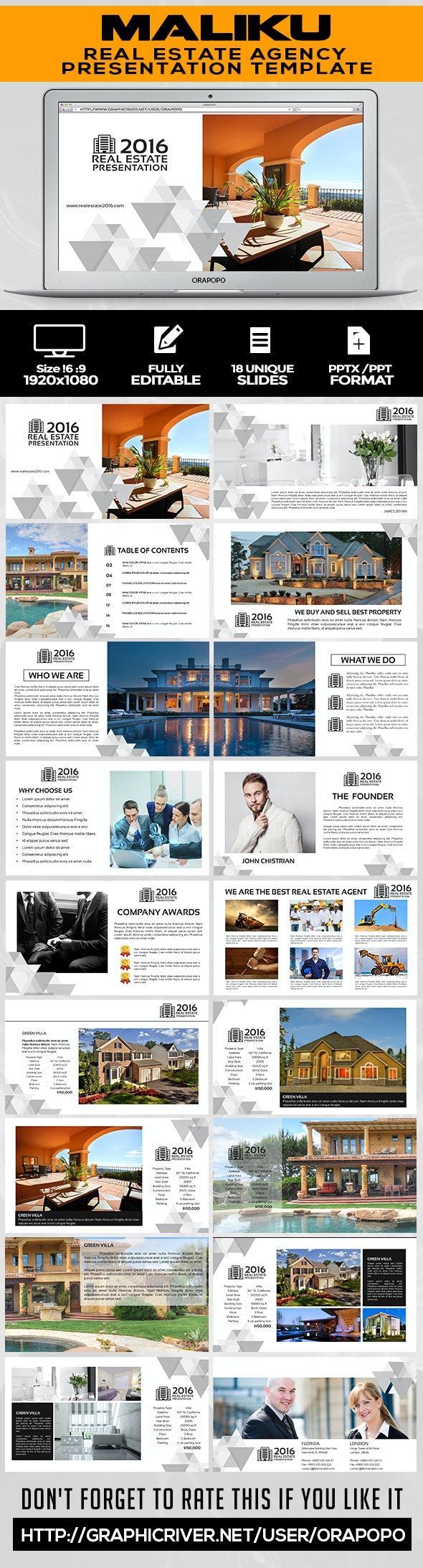 Maliku ~ Real Estate Presentation - Creative PowerPoint Templates