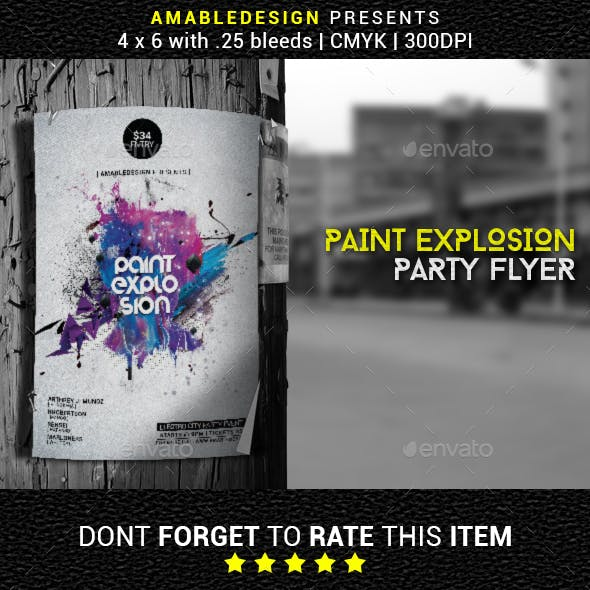 Paint Explosion Flyer/Poster