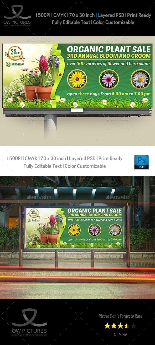 Plant Sale Show Billboard Template - Signage Print Templates