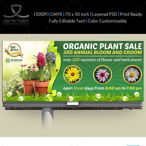 Plant Sale Show Billboard Template