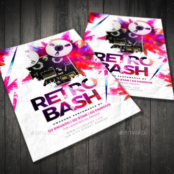Retro Bash Flyer