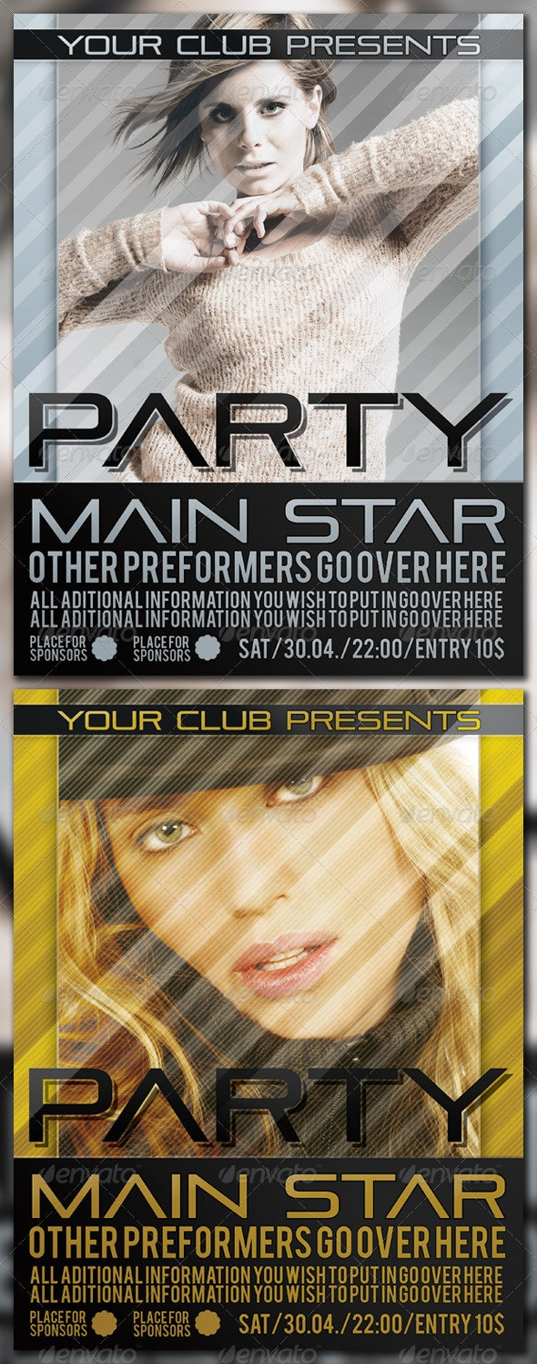 Party Poster - Clubs & Parties Events