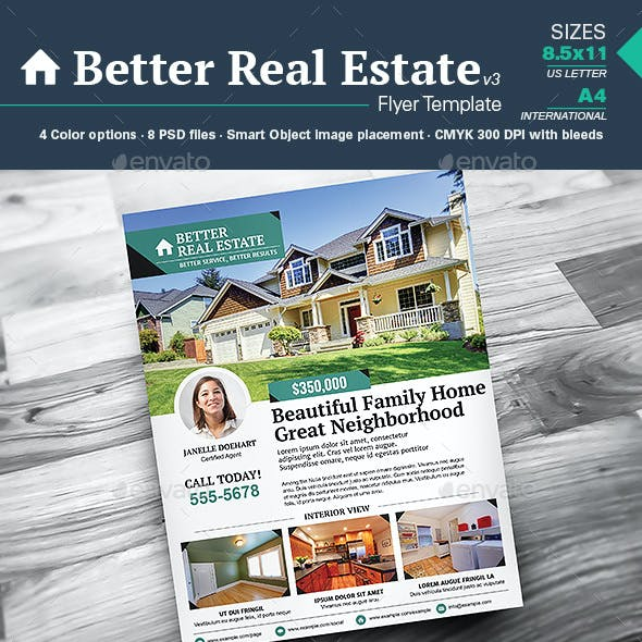 Better Real Estate Flyer Template v3