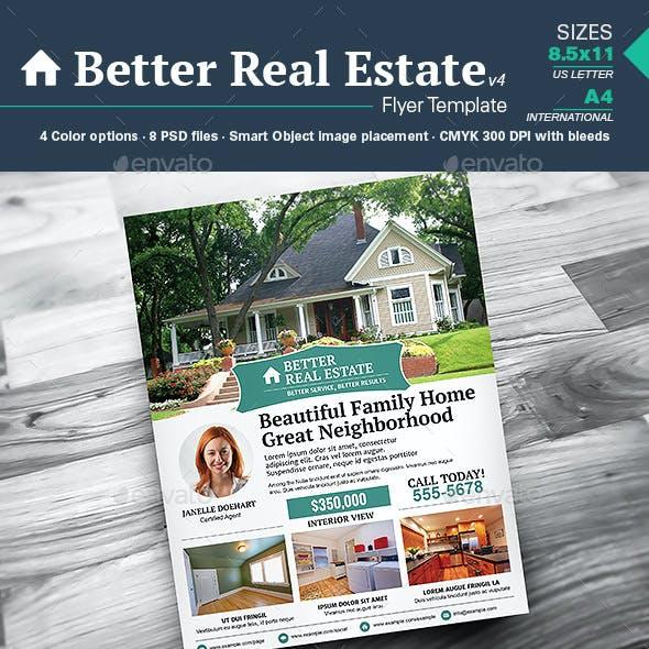 Better Real Estate Flyer Template v4