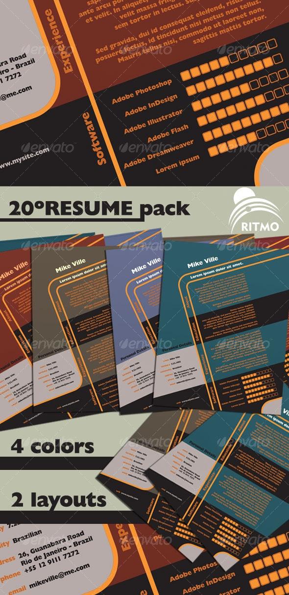 20º Resume Pack - Resumes Stationery