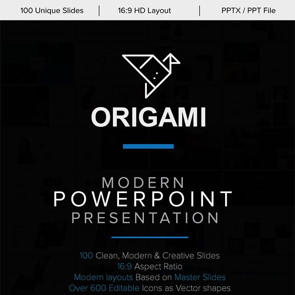 Origami Minimal PowerPoint Template