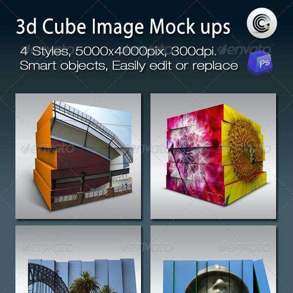 3D Cube Image Mock ups