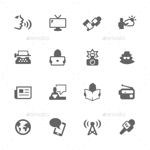 Simple News Icons - Icons