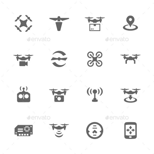 Simple Drone Icons