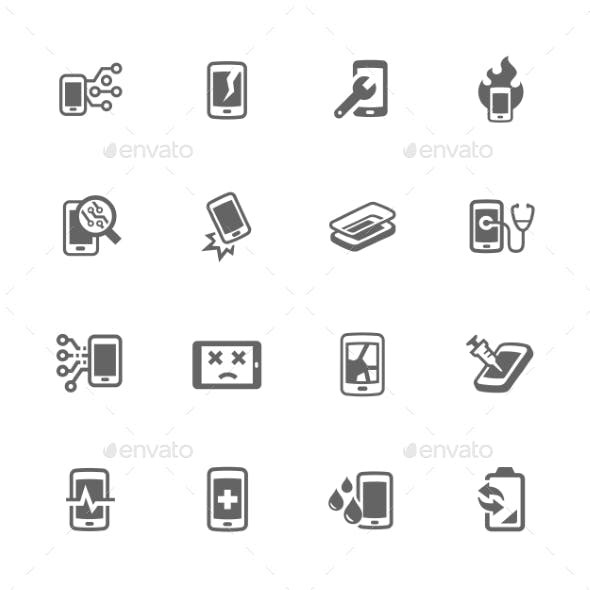 Simple Smart Phone Repair Icons