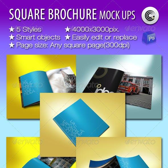 Square Brochures Preview Mock-ups