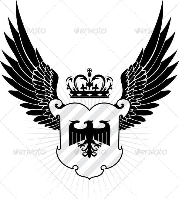 eagle shield - Animals Characters